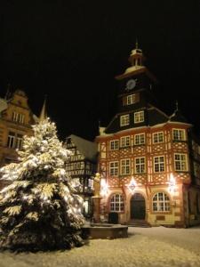 Rathaus Heppenheim im Schnee